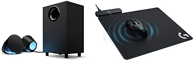 Logitech G560 LIGHTSYNC PC Gaming Speakers with Game Driven RGB Lighting & G Powerplay Wireless Charging System for G703, ...