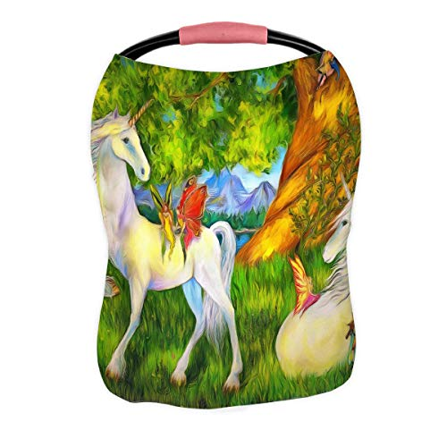 Review Of ABPHQTO Forest Unicorns Among Trees and Mountains Nursing Cover Baby Breastfeeding Infant ...