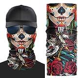 Red Plume 5Pcs Unisex Multi-Purpose Bandanas Magic Balaclava Scarf-Headband, Wrap, Protective Coverage (Style N)