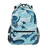 delfino polpo pesce balena zainetti zaino per bambini ragazze ragazzi borsa zaini da viaggio grande per laptop