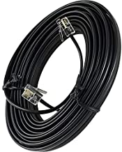 Bistras 100' Foot Black Telephone Extension Cord Cable Line Wire RJ-11