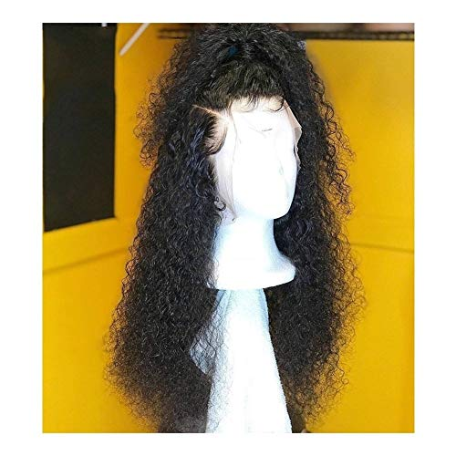 LEZDPP Curly Lace Front Wig with Baby Hair 13 4 Brazilian Non-Remy Hair Lace Wig, Density 130% Hairpieces (Size : 14 inches)