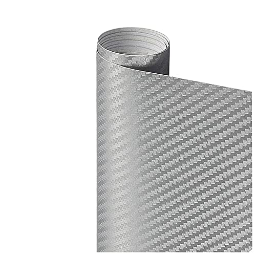 Pegatina de película de rollo de papel de envoltura de automóviles Pegatina de coches Multi Color Sticker 3D Fibra de carbono Vinyl Multi tamaño Autoadhesivo (Color Name : Gray)