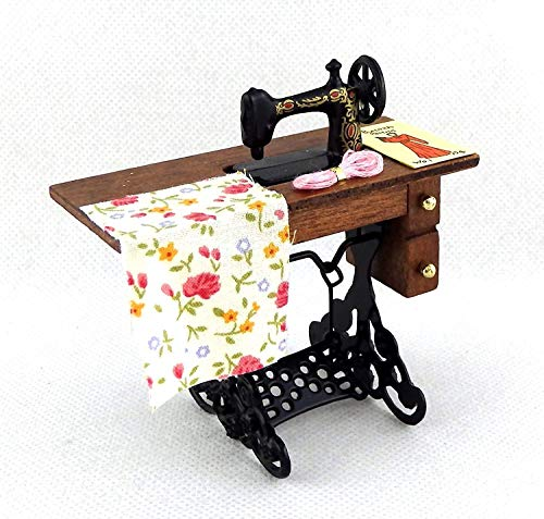 Melody Jane Casa de Muñecas Antiguo Máquina de Coser Miniatura Modistas Muebles