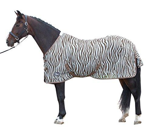 Harry's Horse 32205026-105cm vliegendeken mesh, standaard met riemen, S, zebra plume