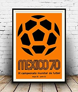 Mexico World Cup 1970 Paper Poster - No Frame (16 X 24)