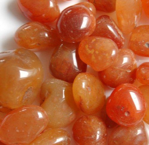 Edelsteine, polierte Trommelsteine, Karneol, 500 g (25,90 Euro/kg)