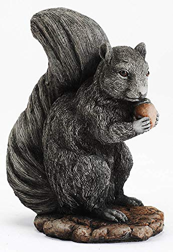 Lovely Squirrel and Nut Garden Ornament Stone Statue