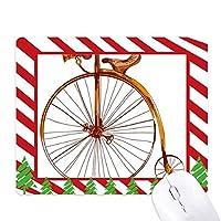 昔ながらの自転車高・ウィーラー・ブリテン ゴムクリスマスキャンディマウスパッド