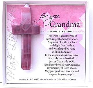 Gift for Grandma: Handmade Glass Cross
