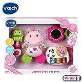 VTech - Coffret naissance - Eveil des sens - Cadeau de naissance avec premiers jouets de Bébé - rose (80-522055)