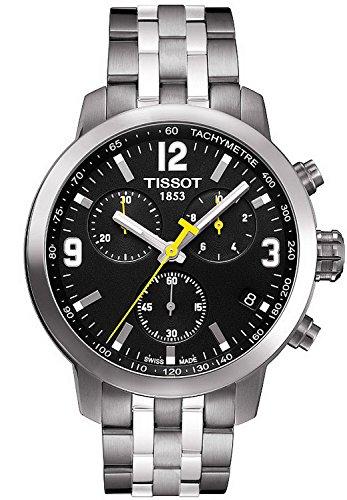 Gifts and Jewels Co. Tissot Tissot PRC 200 Cronografo Nero Quadrante Acciaio inox Acciaio Mens Orologio T0554171105700