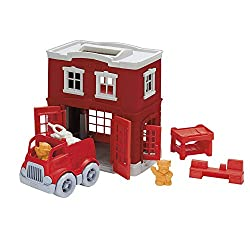 Best toxic free toys for 2 year old toddlers. Great for birthdays and christmas. Eco-friendly Toddler gift guide. Firetruck.