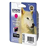 Epson T0963 - Cartucho de tinta (865 páginas), magenta válido para EPSON Stylus Photo R2880, Ya disponible en Amazon Dash Replenishment