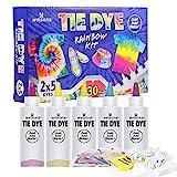 WINSONS 5 Couleurs Tie Dye Kit, Kit Tie-Dye Peinture Textile Teinture Permanente Art & Crafts pour Enfants Adultes et Bricolage