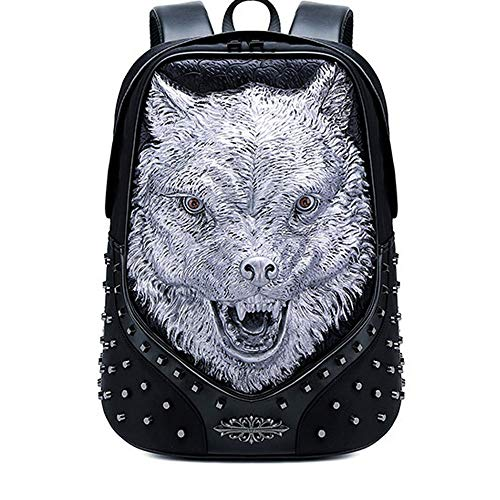 DKee outdoor backpack Rivet Backpack Multi-function Outdoor Travel Bag Personalized Animal Laptop Bag