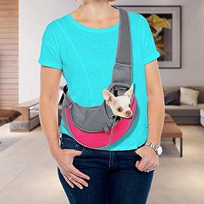 VaygWay dog Sling Carrier- Mesh Traveling Cat Carrier Pouch - Pet Sling Dog Carrier - Puppy Sling 4