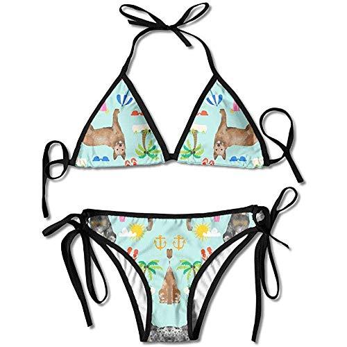 Sdltkhy Bikinis, Australian Cattle Dog Frauen Push-Up gepolsterte BH Bandage Bikini Set Badeanzug