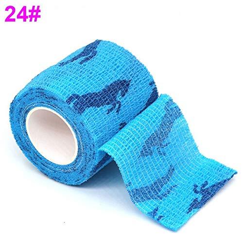 WNAVX Vendaje Rodilla Impresa Vendaje elástico Protector de 4,5 Millones de Deportes Colorido Dedo Auto Adhesivo Joint Wrap for Mascotas Cinta Alta flexibilidad