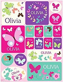 Personalized Name Labels Stickers for Kids Butterfly