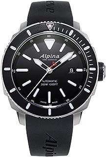 Alpina Seastrong Diver 300 Black Dial Rubber Strap Men's Watch AL525LBG4V6