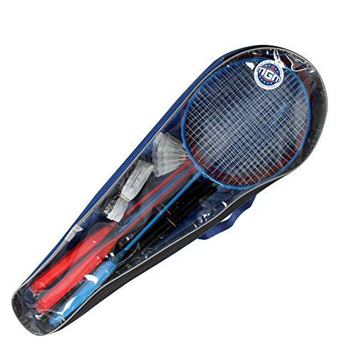 Mgm - 046597a - Jeu De Raquette - Sac 4 Raquettes De Badmintons - 62 X 21 Cm + 2 Volants 7 Cm + Net Set