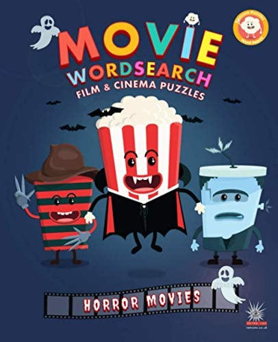 Movie Wordsearch Film Cinema Puzzles Horror Movies Popcorn Movie Wordsearch product image
