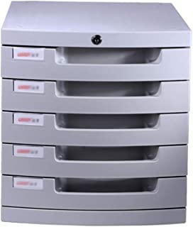 KANJJ-YU Trieurs de tiroirs, 5 couches verrouillables pour bureau, bureau, armoire, porte-journaux (taille : 30,5 x 38,6 x...