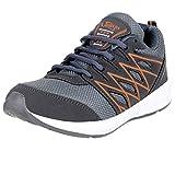 Lancer Men's Grey Orange Running Shoes-8 (HYDRA-46-Green-Orange-8)
