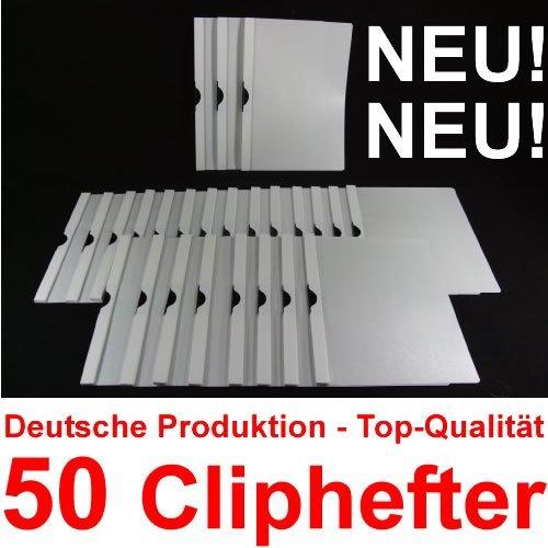 Bewerbungsmappen Cliphefter Klemmmappen 50 Stück in WEIß