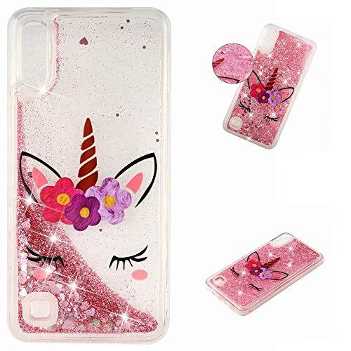 KSHOP Glitter Hoesje voor iPhone SE/5/5S, Eenhoorn, Samsung Galaxy A10/M10