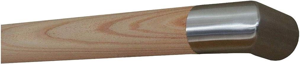 Pasamanos de madera roble con radio y soporte /ø42/mm en varias longitudes