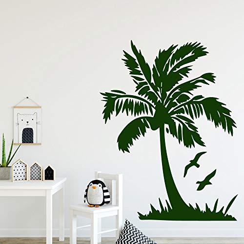 Kokosnoot verwijderbare PVC muurstickers voor kinderen kamer decoratie Sticker muurschildering huis decoratie muurstickers van Home Garden L 43cm X 56cm Blauw