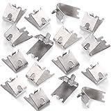 920158 Freezer Shelf Clip Freezer Cooler Shelf Support Shelf Square Clips Stainless Steel Shelf Clip for Refrigerator (16pieces)