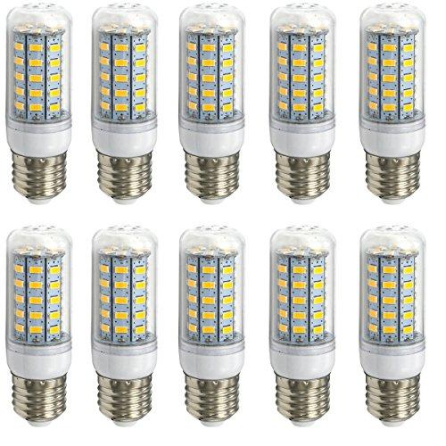 Aoxdi 10x E27 LED Lampe 7W LED Leuchtmittel, Warmweiß, 48 SMD 5730 LED E27 LED Birne LED Energiesparlampe LED Glühbirne, AC220-240V