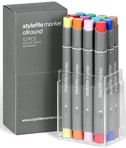 Stylefile Grafikmarker Allround 12er Main B Set Box Grafik Marker Pens Stift