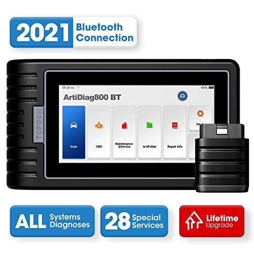 Diagnostic Tool TOPDON ArtiDiag800BT OBD2 Scanner Wireless All Systems Scan Tool, 28 Maintenance Services Free Lifetime Software Upgrade Android 10.0 Diagnostic Car Scanner for DIY, DIFM