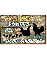 Aperiy Söt skylt 'We Love Chicken and Farm Life' vintage metallskylt påsk mors dag bästa gåvor för vänner kafé bar pub sovrum rumsdekoration 20 x 30 cm