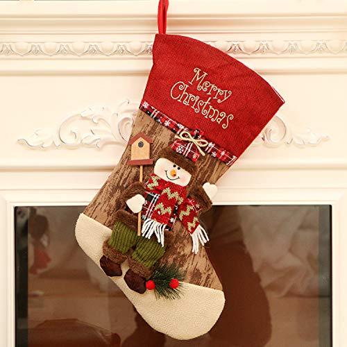 Byou Camino Calza Di Natale,Calze Natalizie Da Appendere Candy Biancheria Sacchetti Regalo Per Albero Di Natale Decorazioni