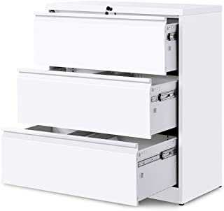 tall white filing cabinet