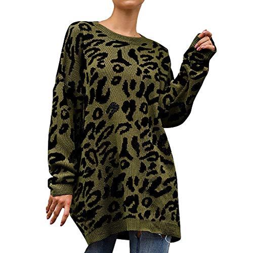 SHINEHUA dames luipaard gebreide trui trui trui trui sweater gebreide jurk warm elegant lange mouwen gebreide trui trui trui tops winterpullover tuniek gebreide jumper tops casual gebreide trui bovenstukken