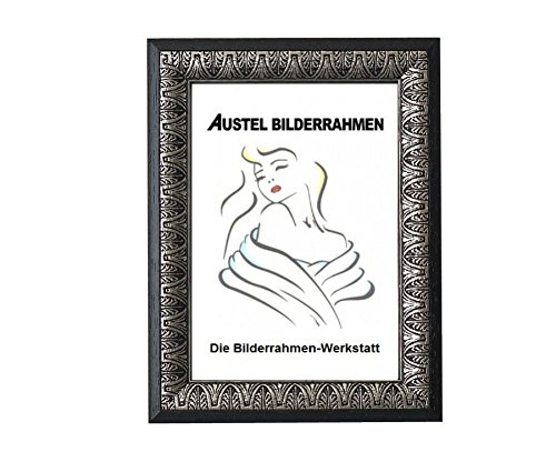 Barock IV Holz Bilderrahmen in 13x18 bis 40x60 cm Weiß oder Schwarz Foto Rahmen: Farbe: Schwarz | Format: 20x30