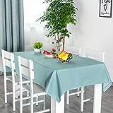 xiaopang Mantel de diseño de borla a cuadros, lavable, ovalado, de algodón, de lino, rectangular, a prueba de polvo, para mesa de café, decoración de mesa de jardín, 140 x 100 cm