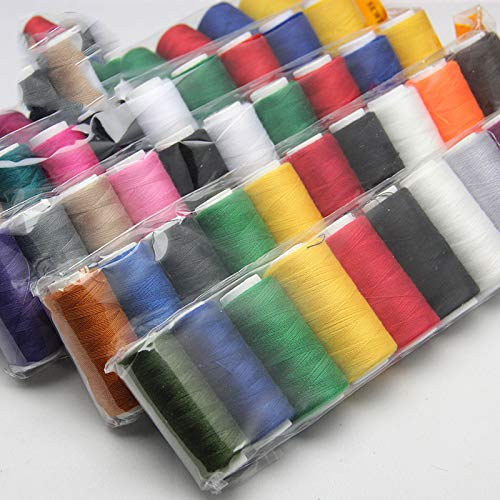 Great Deal! 10Pcs/Pack 10 Color Mixed 200 Yards Sewing Thread Polyester Strong Durable Threads For H...