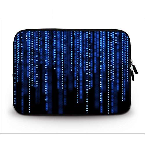 Yinghao waterdichte laptophoes voor 17 12 13 14 15 15 6 vrouwen mannen notebook tas beschermhoes voor Mac Air 13 3 / mi pro 15 6 / Lenovo/Asus 7 inch Blauschwarz