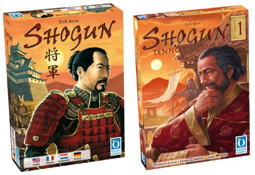 Queen Games 70132 - Shogun Bundle mit Tenno's Court, Brettspiel