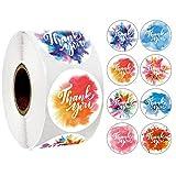 500 Stück Danke Aufkleber Farbe Thank You Label Abdichtung Aufkleber Runde Etiketten Selbstklebend...