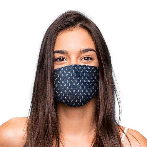 Mund Nasen Maske, wiederverwendbare Gesichtsmaske/Community-Maske in Universalgröße, handgefertigt in der EU, in unterschiedlichen Farben, Designs und Motiven (ANKER)