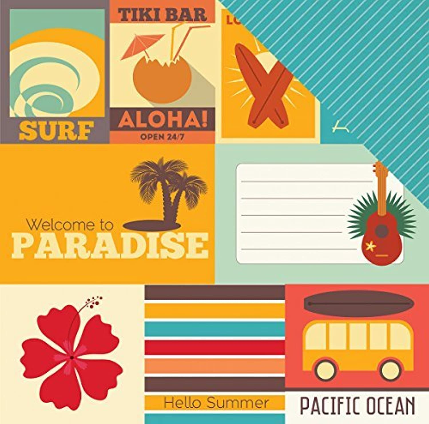 Echo Park Paper Island Paradise Double-Sided Cardstock 12X12-Journaling Cards 15 15 15 Sheetsper package by Echo Park Paper B01KBBZDKE | Deutsche Outlets  3fb2aa