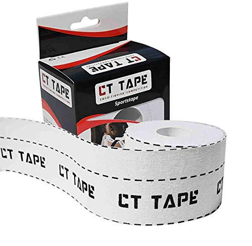 CT Tape Kinesiology and Therapeutic Sports Tape for Sensitive Skin - Best Breathable, Latex Free, Pain Relief and Recovery Tape. Athletic Adhesive for Muscles, Knee, Shoulder, Ankle, Back-16.5 Feet